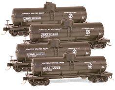Micro-Trains N Scale U.S. Army Tank Car Set.