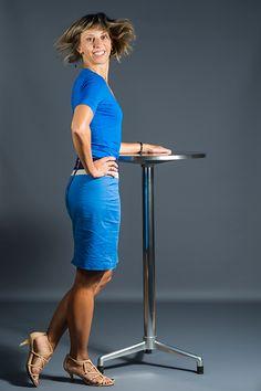 Marta Eceolaza, gerente y directora del #gimnasio Onfitness, enamorada de su profesión y del deporte.