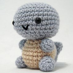 "Pokemon: Squirtle  Free Amigurumi Pattern ~ PDF Version ( click ""download"" or ""Free Ravelry download"")  http://www.ravelry.com/patterns/library/pokemon-squirtle"