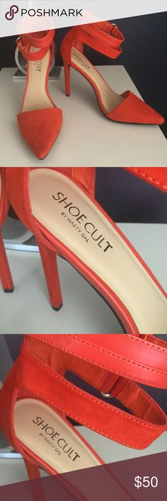 Nasty Gal Stilettos Brand New, never worn. Perfect color for the summer! Nasty Gal Shoes Heels