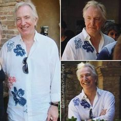 Alan Rickman (and Rima, not shown here) at the Castello di Portentino, Tuscany, Italy in August of 2011