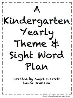 Mrs. Garrett's Groovy Kindergarten: This is a great Yearly Plan for Sight Words and we have books that support each week! Check it out!