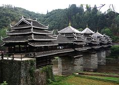 10 Most Beautiful Bridges in the World - Neatorama Chengyang Bridge in China...built without a single nail