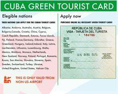 Cuba Visa & Tarjeta Turística