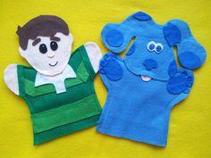 Blues Clues puppets-Blue,  Steve