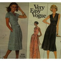 The queen of wrap dress designers made a sewing pattern for Vogue back in the 1970s when she first designed - Diane Von F - a team #patternpatter sewing pattern