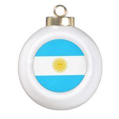 Flag of Argentina Ceramic Ball Decoration