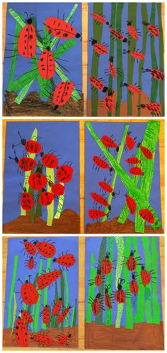 This is a great May lesson to explore texture and read one of my Kindergarteners' favorite stories: The Grouchy Ladybug by Eric Carle. Students find this story so amusing and love the part wh…