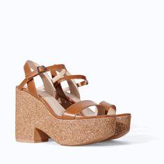 Image 2 of GLITTER WEDGE from Zara