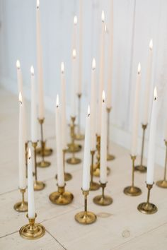 Brash candle holders