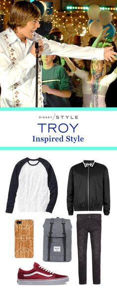 Even in 2006, Troy leaned heavily into the athleisure trend. We think that 2016 Troy would rock a sporty bomber jacket, a classic baseball tee, and a clever iPhone case for his updated High School Musical outfit.