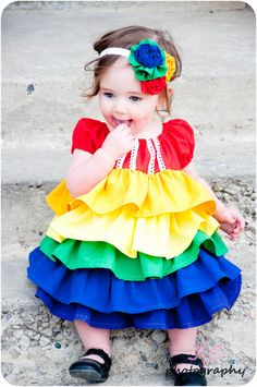 The REAL Housewives of Riverton: A rainbow ruffle dress for the baby!