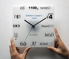You know you're a math major when this clock is easy to read