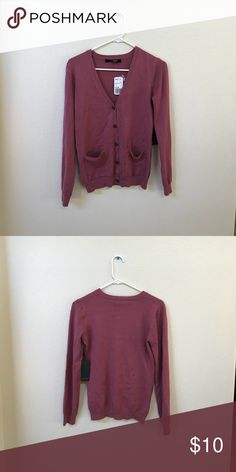 Forever 21 Cardigan Never worn! Soft cotton Mauve Forever 21 Sweaters Cardigans