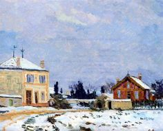 Snow, 1876 by Armand Guillaumin. Impressionism.