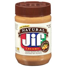 Jif Natural Peanut Butter Spread - supposedly does not separate and no need to stir!