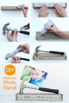 DIY Father's Day Gift – Hammer photo stand tutorial
