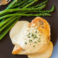 Skillet Chicken with Mustard Cream Sauce  3 - 4 (6 oz) boneless skinless chicken breasts Salt and freshly ground black pepper 2 Tbsp olive oil 1 clove garlic, finely minced 1/4 cup low-sodium chicken broth 1/2 cup low fat milk 2 Tbsp dijon mustard 1 tsp chopped fresh thyme, plus more for garnish 1/2 tsp dried sage 1 tsp honey Heat olive oil in a large skillet over medium-high heat. Season both sides of chicken with salt and pepper. Add chicken to hot oil in skillet and cook 5 - 6 minutes per…