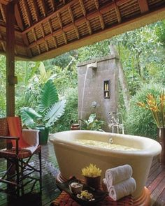 Gorgeous outdoor bathroom