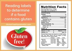 Reading labels can help you determine if a food contains gluten or not. Here are tips on how to do that.