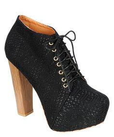 Black Bonny Bootie ... more #shoes: @MTFashional