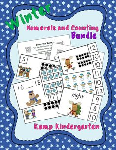 Enough Numerals and Counting Activities to Keep Your Little Learners Engaged Throughout the Winter Months!  $   #winter  #wintermath  #numerals #counting #tenframes #KampKindergarten  #numbers     https://www.teacherspayteachers.com/Product/Winter-Numerals-and-Counting-Math-Centers-Bundle-Quantities-to-20-1616025