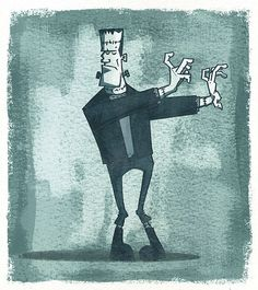 Frankenstein's Monster by artist, Rory Phillips, via Flickr