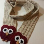 Ribbed Crochet Owl Scarf - via @Craftsy