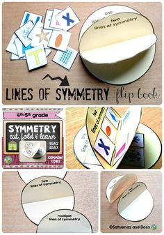Symmetry-Flip book-Cut, fold and learn This flip book has been designed to teach/ review symmetry in 4th/5th grade. Excellent resource for teachers using INTERACTIVE MATH NOTEBOOKS !!!.