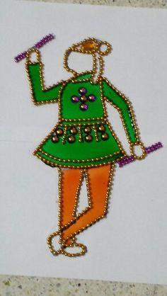 Kundan rangoli folk art