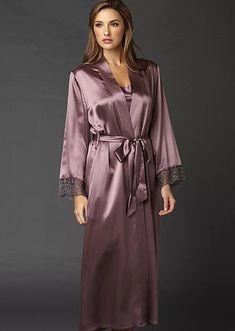 Silk Chemise, Silk Nightgown, Silk Bathrobe, Cotton Pjs, Embroidered Lace, Night Gown, Elegant, Stylish, Coat