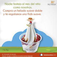 En el #mesdelniño, Nutrisa México le regala helado a los peques en la compra de un helado suave doble. ¡Hasta el 5 de mayo!