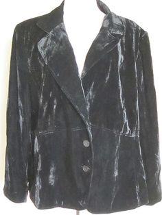 Lane Bryant Plus Size 28 Black Velvety Cocktail Holiday Lined Jacket   eBay