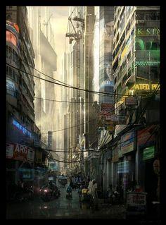 Futuristic Bombay by Raphael-Lacoste.deviantart.com on @DeviantArt