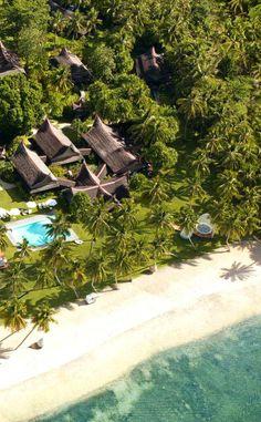 The Dedon Island Resort, Siargao via dedonisland.