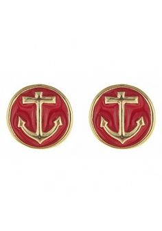 Red, white and blue to add some #patriotism to you, the Anchor Earrings! #SwellCaroline #Nautical