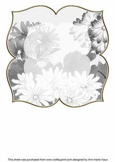 Daisies Silver Large Blooms 8inch Insert Panel on Craftsuprint - Add To Basket!