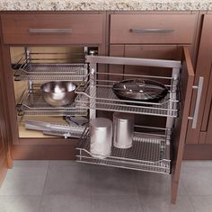 """Vauth Sagel Left Hand Wari Corner Blind Corner System 39.375"""" W Chrome 9000 4167  