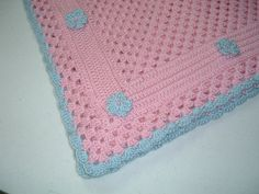 So Soft So Sweet Baby Afghan in Pink with by JoyfulQuiltsbyJoyce, $35.00