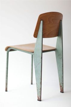 Walnut counter stool just what i need for my bar seeing - Jean prouve chaise standard ...