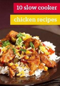 10 slow cooker chicken recipes – Ever wish you could just throw a bunch of ingredients in a pot then hours later find an amazing meal waiting? Well, you can with these delicious slow cooker chicken recipes!