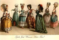 Girls Just Wanna Have Fun -- More Hilarious Marie Antoinette Postcards at Pretty Girl Postcards