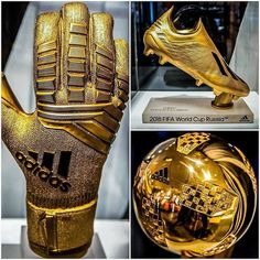 Individual awards of the 2018 FIFA World Cup Russia. The golden glove the golden boot & the golden ball. Adidas Soccer Shoes, Nike Football Boots, Soccer Boots, Adidas Football, Nike Soccer, Soccer Cleats, Soccer Players, Football Soccer, Soccer Ball