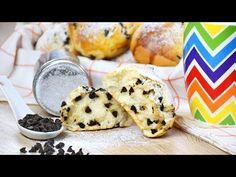 Ricetta PANGOCCIOLI fatti in casa - Easy CHOCOLATE CHIP BUNS recipe - YouTube Bun Recipe, Going Vegan, Biscotti, Panini, Cheese, Cookies, Chocolate, Easy, Desserts