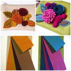 SewSweetStitches: DIY Felt Clutch Kits #bag #purse #tutorial #wristlet #flowers #autumn #fall