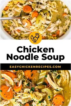 Because it's made in the slow cooker, it's so effortless. You can set it earlier in the day and it'll be ready and waiting for you. If you are lover of chicken noodle soup (let's be honest, who isn't?!), you are going to love my Crockpot version! This is my go to recipe when I want something hearty, warming and comforting.