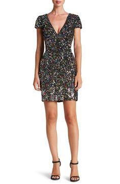 Dress The Population Zoe Sequin Minidress - Confetti at Nordstrom