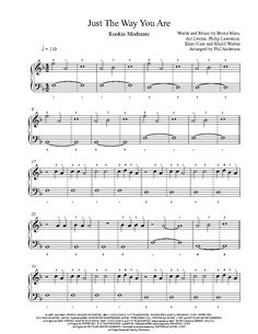 Just The Way You Are by Bruno Mars Piano Sheet Music | Rookie Level