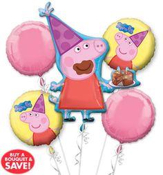 partyexpressinvitations - Peppa Pig Birthday Balloons, $16.00 (http://www.partyexpressinvitations.com/peppa-pig-birthday-balloons/)