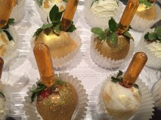 Gold Hennessey infuse strawberries